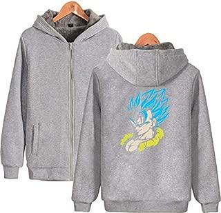 Unisex Dragon Ball Anime Full-Zip Long Sleeve Hoodie Winter Thicken Warm Sweatshirt