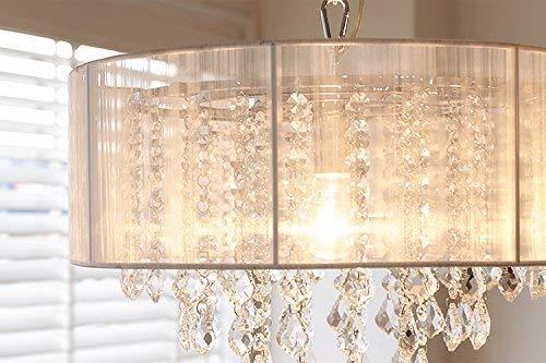 Saint Mossi Moderne K9 Kristall Regentropfen Kronleuchter Beleuchtung Unterputz LED Deckenleuchte Pendelleuchte für Esszimmer Badezimmer Schlafzimmer Wohnzimmer Breite 43 x Höhe 27 cm - 4