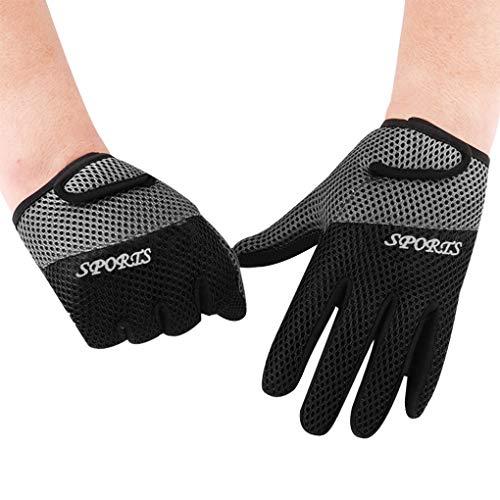Afinder guanti da uomo e donna in rete traspirante antiscivolo regolabili per palestra esercizi yoga protezione dai raggi UV per equitazione campeggio arrampicata ciclismo strada bicicletta guanti