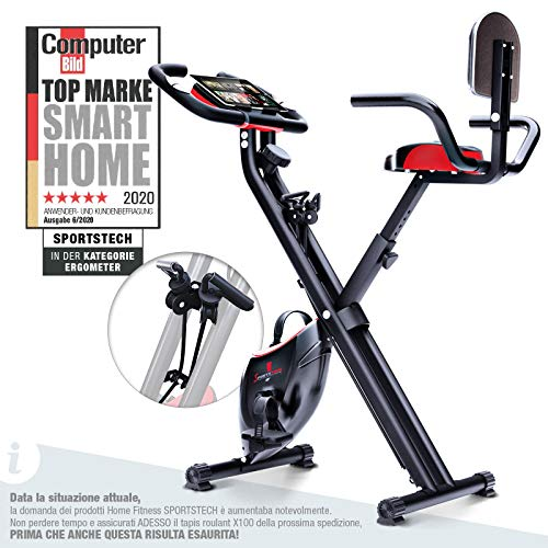 Sportstech Fitness Exercise Bike con Console-LCD &...