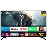 CRUA 140 cm (55 Inches) 4K Ultra HD Smart LED TV CJDS55D9 (Black) (2019 Model)