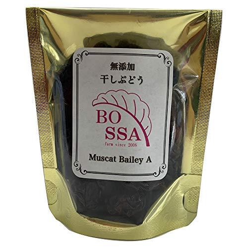 【産地直送】無添加国産 ボッサの干しぶどう 甘さ控えめの大粒レーズン (小袋40g:1袋)