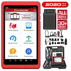 【2020 NEW ADDED ADVANCED FUNCTIONS】: LAUNCH X431 PROS MINI 3.0 extends the storage capability to 32G. Adds some advanced functions ➤Windows Calibration, Seats Calibration, Tyre reset, Language Change, A/F Reset A/F, Coolant Bleed, Transport Mode, Adb...