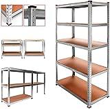 Estantería metálica galvanizada 875kg 5 baldas modular 180 x 90 x 40cm