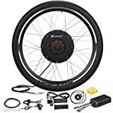 Voilamart 26' Rear Wheel Electric Bicycle Conversion Kit, 48V 1500W E-Bike Powerful Hub Motor Kit with Intelligent Controller and PAS System, Restricted to 750W for Road Bike