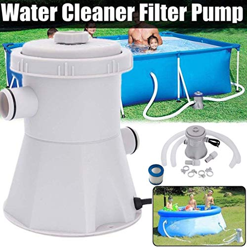 ninRYA 【US Stock DHL Delivery 】 Swimming Pool Water Circulation Pump, 110V 20W Electric Swimming Pool Filter Pump for Above Ground Pools Cleaning Tool 2500 GPH Pump Flow Rate (White)
