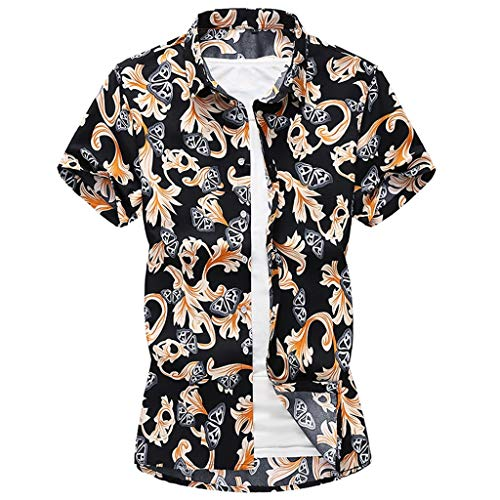 S-5XL Hawaiihemd Herren Hemd Kurzarm Print Strandhemd Kurzarmhemd Urlaub Hemd Freizeithemd Sommer Hawaiishirt CICIYONER