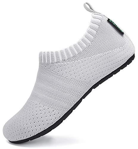SAGUARO Zapatillas de Estar por Casa para Niños Zapatillas Casa Niñas Zapatos Infantiles Bebé Caminan Zapatillas Suela Antideslizante Suave Gris Claro Gr.32/33