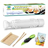 Chefoh All-In-One Sushi Making Kit   Sushi Bazooka, Sushi Mat & Bamboo Chopsticks Set + 3in1 Avocado Slicer   DIY Rice Roller Machine   Very Easy To Use   Must-Have Kitchen Appliance