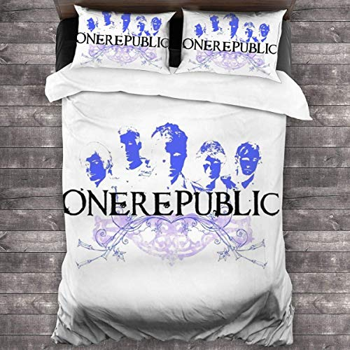 Yuanmeiju OneRepublicBedding Sets Soft Lightweight Duvet Cover 3Piece