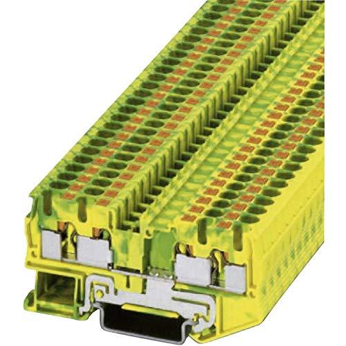 Phoenix Contact PT 4-Quattro-PE 3211809 Dreistock-Schutzleiterklemme Polzahl: 4 0.2 mm² 4 mm² Grün-Gelb 1 St.