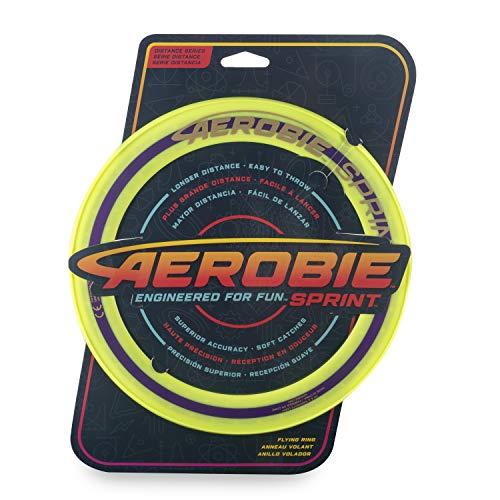 Aerobie - Sprint Flying Ring Wurfring mit Durchmesser 25,4 cm Frisbee Scheibe Farbe zum Wählen (Gelb)