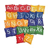 Fun Express Alphabet Bean Bags- 5' - 26 Pc - 26 Pieces - Educational and Learning Activities for Kids