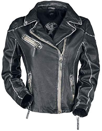 Gipsy PGG LULV Frauen Lederjacke schwarz M 100% Leder Basics, Rockwear, Steampunk