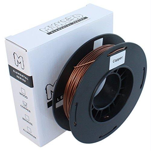 MYNT3D Elemental Copper PLA Filament for 3D Pens and 3D Printers, 1.75mm, 200g