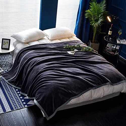 OwarmQ Fleece deken gooit effen kleur super zacht pluizig bed werpt dekens warme deken voor bank kerst werpt deken sprei dubbele laag microvezel deken