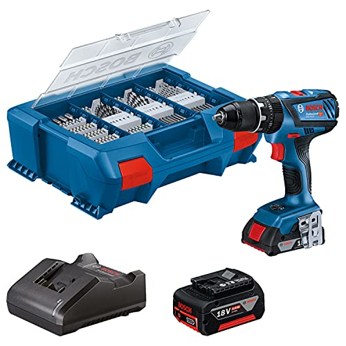 Bosch Professional 18V System Akku Säbelsäge GSA 18V-LI C (inkl. 1x 5.0 Ah GBA 18V Akku, Schnellladegerät GAL 18V-40, 10x Säbelsägeblatt, in L-BOXX 136) - Amazon Exclusive