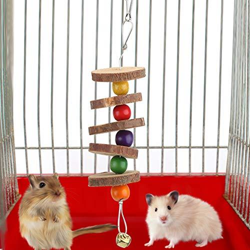 Zhjvihx Juguete para moler Dientes de hámster, Juguete para Mascotas con protección del Medio Ambiente, mordedura Duradera para Conejo Chinchilla