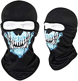 UANGS Balaclavas CS Balaclava Breathable Balaclava Blue Tusk Balaclava General Model UPF>50 Lightweight Full Face Mask For Cycling Sports Motorcyle Sport