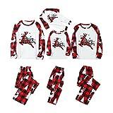 Pijama de Navidad con diseño de renos, de manga larga, para Navidad, de algodón, Akind*red, 4 años