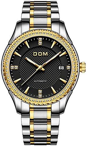 Relojes, Relojes Hombre Mujer Mecánico Automático Estilo Clásico Impermeable Números Esfera con Correa De Acero Inoxidable