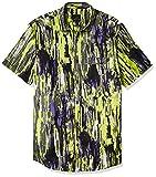 Armani Exchange Printed Cotton Poplin Truffle/Acid Lime TY Shirt Camisa, M para Hombre