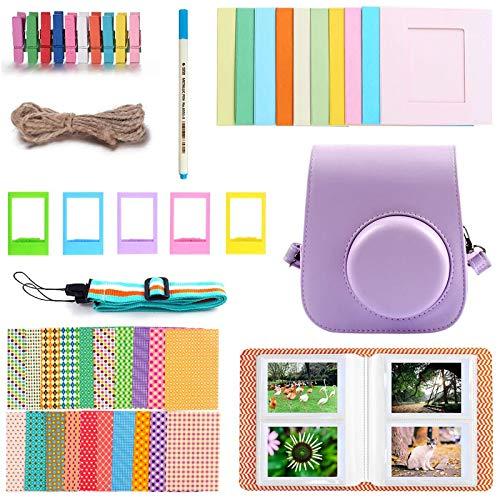 Funda y accesorios compatibles con cámara Fujifilm Instax Mini 11 Instant Polaroid, paquete incluye álbumes, filtros, correa para el hombro y otros accesorios