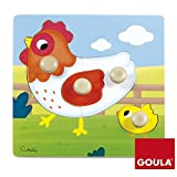 Goula- Puzzle gallina de madera, 22 x 22 cm (53052) , color/modelo surtido
