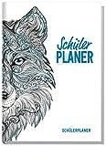 Schulstuff Schülerplaner A5 ohne Datumsbindung [Wolf] Schülerkalender mit Wochenkalender - 1 Woche auf 2 Seiten   Freizeit, Termine und Schule unter einem Hut