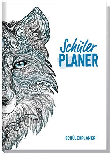 Schulstuff Schülerplaner A5 ohne Datumsbindung [Wolf] Schülerkalender mit Wochenkalender - 1 Woche auf 2 Seiten | Freizeit, Termine und Schule unter einem Hut