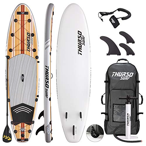THURSO SURF Tabla Paddle Surf Hinchable Waterwalker 335x81x15 cm Construcción...