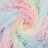 Kesheng Plüschstoff, Regenbogenfarben, 100% Polyester,