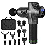 Upgrade Super Quiet&Battery Massage Gun - Percussion Muscle Massager for Athletes Pain Relief, Handheld Deep Body Tissue Massager, Portable Electric Sport Massager ( Black )