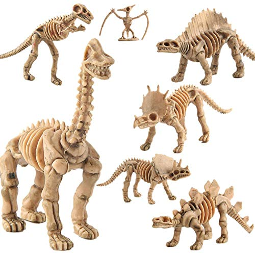 poetryer Juguete fósil de Dinosaurio de 12 Piezas - Esqueleto de fósil de Huesos de Dinosaurio para niños, niñas y niños