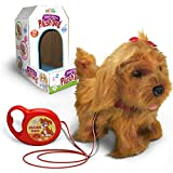 kid labsters Kids Walking and Barking Puppy Dog Toy Pet with Remote Control Leash (Beige)