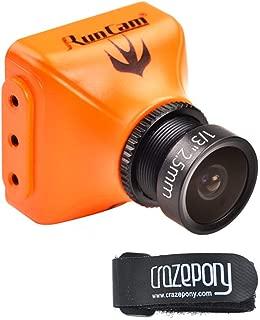 Crazepony RunCam Swift 2 600TVL FPV Camera 2.5mm 130 Degree OSD WDR DC 5-36V NTSC Integrated MIC Multicopter Orange