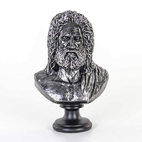 Euro Flora Zeus busto escultura cojo 23x15x37 Cm