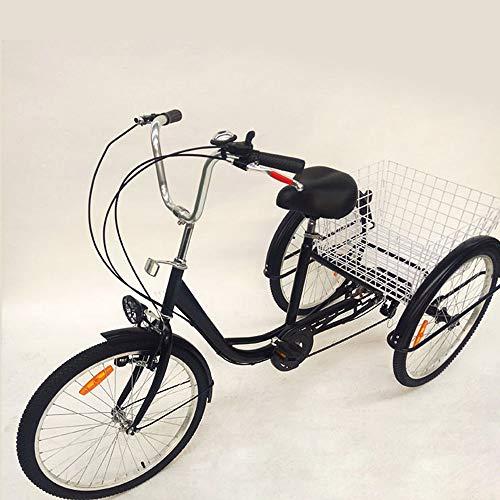 Xian 24' Erwachsenendreirad 3 Räder Fahrrad Fahrräder Senioren-Dreirad 6 Gang