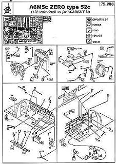 Eduard A6M5c Zero Type 52c Detail Set for ACY 1/72