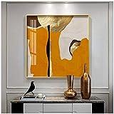 cuadros decoracion salon Arte abstracto de la hoja de oro anillos geométricos Impresión de póster Imágenes de arte de pared HD para sala de estar Oficina Decoración para el hogar 27.6x27.6in (70x70cm