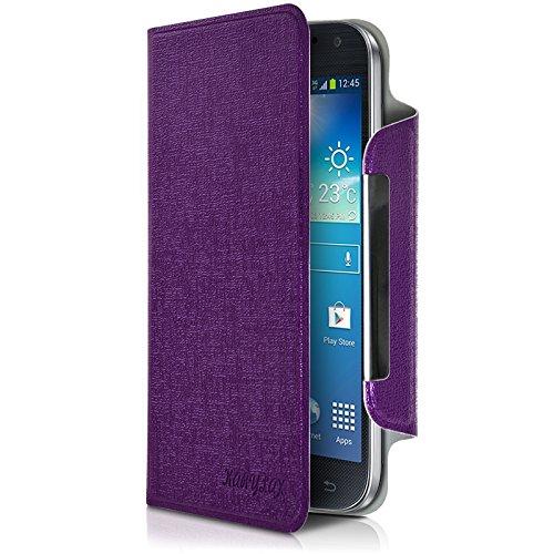 Seluxion Universal L Flip Case Cover for Acer Liquid Z530 Smartphone Purple