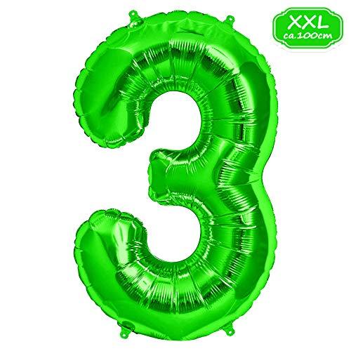 XXL Folienballon Luftballon Zahl Ballon Helium wiederverwendbar Party Deko