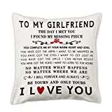 pinata Gift Idea for Girlfriend Pillow Cover 18x18'' Anniversary, Birthday, Romantic Girlfriend Gifts Decorative Pillowcase, Cute Adult I Love You Gift for Her from Girlfriend, Boyfriend, Lesbians