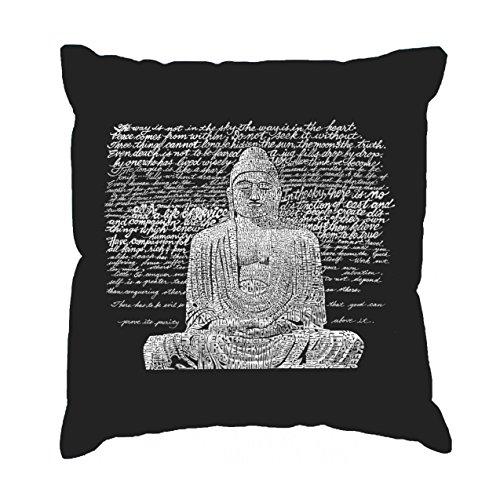 LA Pop Art Throw Pillow Cover - Zen Buddha Black