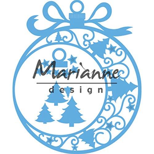 Marianne Design LR0560 Creatables, kerstversiering, stempel- en stanssjabloon voor ambachtelijke projecten, blauw