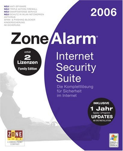 ZoneAlarm Internet Security Suite 2006 Family Edition (2 Lizenzen)