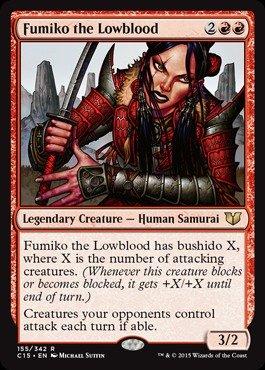 Magic The Gathering - Fumiko The Lowblood (155/342) - Commander 2015
