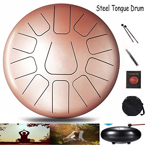 Cyg Steel Tongue Drum, handtrommel slaginstrument met yoga-tanden, klankgenezing, pan drum trommeltas, tongtrommel