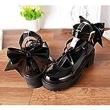 LANKOULI Zapatos de Mujer Lolita Zapatos de Mujer Cosplay Zapatos de Mujer Zapatos de tacón Alto y Grueso Zapatos de Plataforma Zapatos de Mujer Princesa Solo