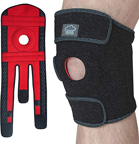 Modvel Premium Supportive Knee Brace Flexible Neoprene Knee Protection Wrap, Breathable Unisex Knee Compression Sleeve Running, Sports & Arthritis, Promotes Pain Relief, L (MV-129)